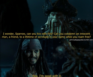 Davy Jones, johnny depp, and jack sparrow image