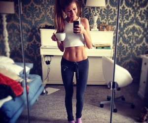girl, fit, and body image