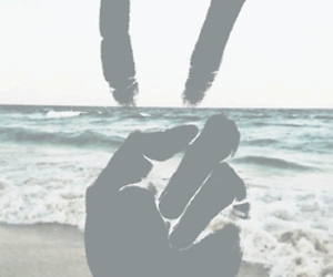 peace, hand, and black image
