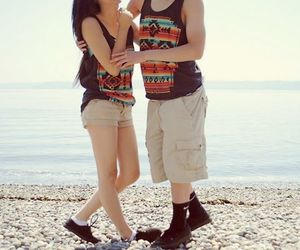 cute couple, swag, and dope image