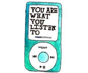 music, quotes, and ipod image