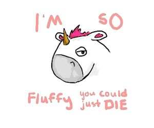 fluffy, unicorn, and pink image