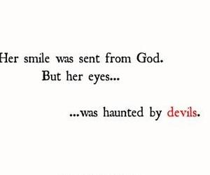 Devil, eyes, and god image