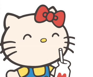 hello kitty and milk image