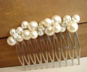 great gatsby, hair comb, and vintage wedding image