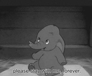 cartoon, elephant, and forever image