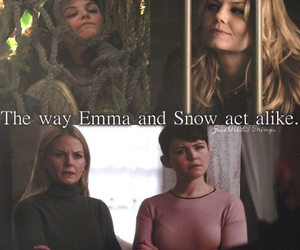 emma swan, snow white, and once upon a time image