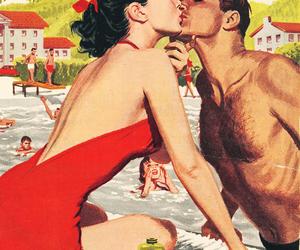 vintage, kiss, and couple image
