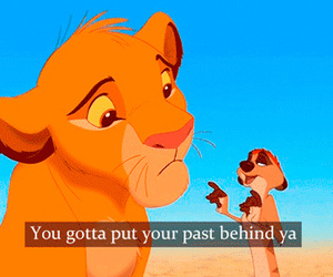 past, lion king, and quote image