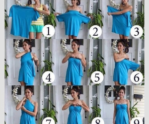 dress, diy, and blue image