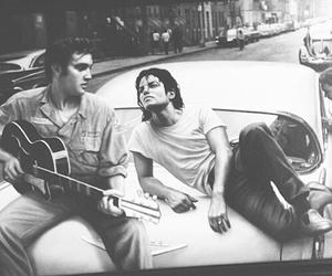 Elvis Presley and michael jackson image