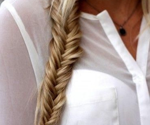beautiful, fishtail, and dirty blonde image