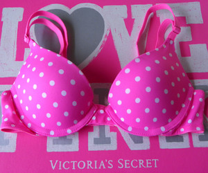 pink, Victoria's Secret, and polka dots image