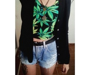 black, cannabis, and girl image