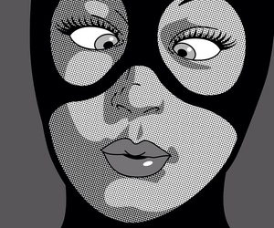 pop art, catwoman, and art image