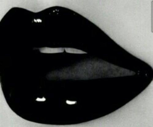 black, lips, and sexy image
