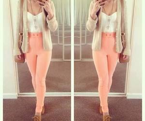 cute shoes, outfit, and colored pants image