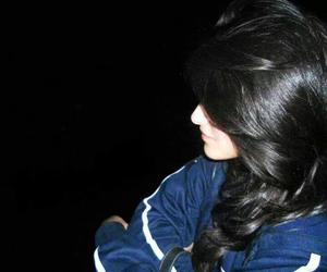 black hairs, saudi girls, and blue dress image