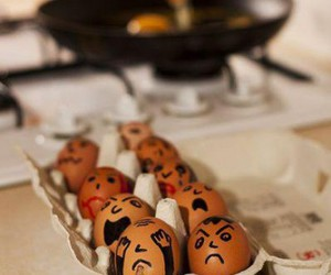 die, egg, and eggs image