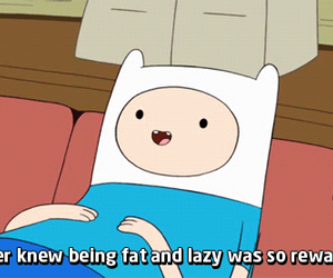 adventure time, Lazy, and fat image