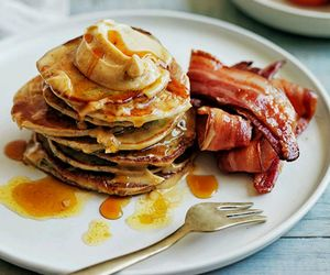 bacon, breakfast, and food image