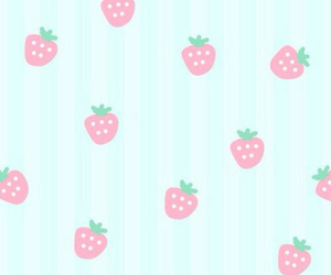 strawberry, kawaii, and pink image