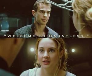 divergent, dauntless, and tris image