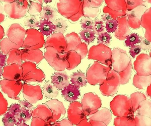 flowers, wallpaper, and red image