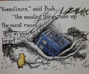 winnie the pooh, doctor who, and quote image