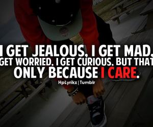 love, jealous, and mad image