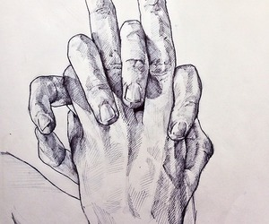 art, hands, and her image