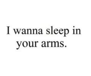 love, sleep, and arms image