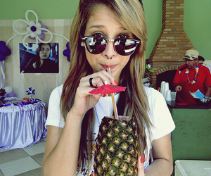 drink, piercing, and pineapple image