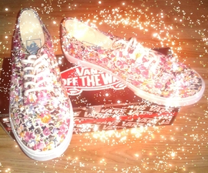 fashion, flowers, and sneakers image