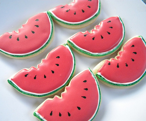 watermelon, cookie, and Cookies image