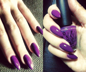 manicure, nails, and purple image