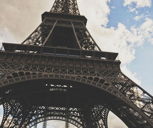 paris, clouds, and eiffel image