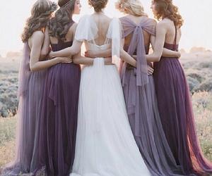 wedding, dress, and bridesmaid image