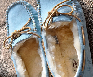 shoes, blue, and uggs image