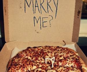 pizza, food, and marry me image