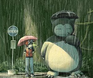 pokemon, totoro, and snorlax image