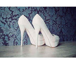 white, beautiful, and heels image