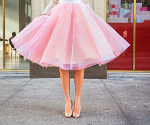 pink, fashion, and skirt image