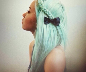 bow, green, and pale image