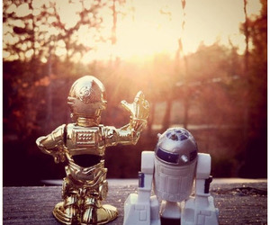 star wars and sunset image