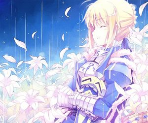 anime girl, saber, and fate stay night image