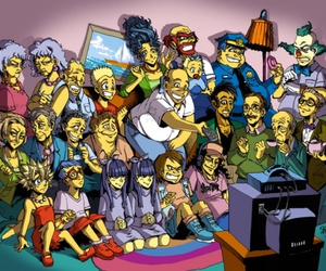 simpsons, the simpsons, and anime image