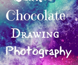 art, chocolate, and drawings image