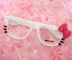 glasses, cute, and hello kitty image