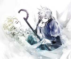 frozen elsa x jack frost and stolen art image